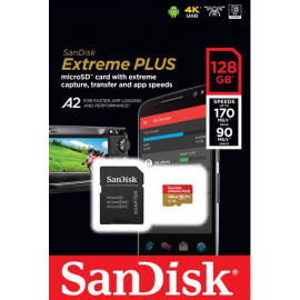 MEM SD MICRO 128GB Sandisk Extreme Plus + adapter